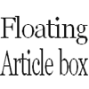 Floating Article box